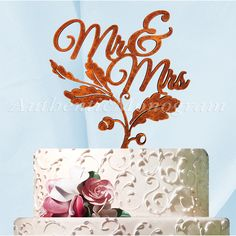Found it at Wayfair - Mr. and Mrs. Fall Cake Topper