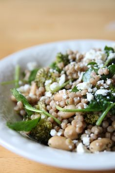Couscous, White Bean, & Spinach Salad