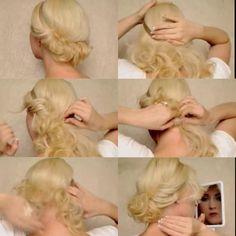 Pretty hair updo tutorial