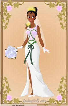 Tiana Wedding Dress by zozelini.deviantart.com on @deviantART