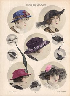 Vintage, Hats, revdeschapeaux , How to draw Hat, Drawing Hats Tutorial with thanks to pillcat,  Resources for Art Students, CAPI ::: Create Art Portfolio Ideas at milliande.com, Art School Portfolio Work
