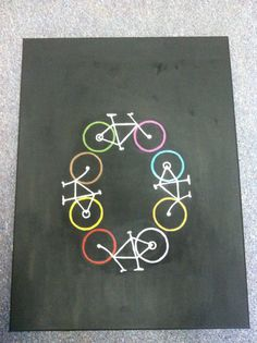 Bicycles. I want to put this design on a t-shirt.