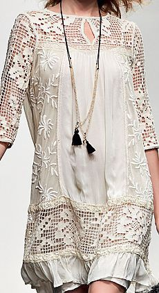 Blouse Dress, Lace Dress, Chanel Style Jacket, Lace Socks, Lace Outfit, Boho Fashion, Womens Fashion, Crochet Blouse, Beachwear For Women