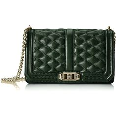 Amazon.com: Rebecca Minkoff Love Cross Body Bag, Dark Forest, One... (1.915 NOK) ❤ liked on Polyvore featuring bags, handbags, shoulder bags, purses, crossbody shoulder bag, shoulder handbags, green handbags, green purse and rebecca minkoff handbags