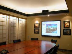 conference room theater. Photo: © 2012 Parrish Construction- Boulder, CO (303-444-0033). http://www.parrishbuilt.com