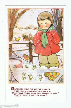 Winter - arty by Phyllis M Purser (postcard)