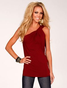 Twisted One Shoulder Top