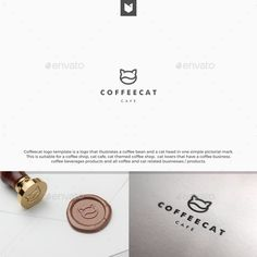 coffee cat logo — Vector EPS #shop #coffeeshop • Available here → https://graphicriver.net/item/coffee-cat-logo/17967866?ref=pxcr