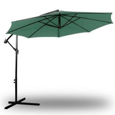Offset Patio Umbrella Off Set Outdoor Market Umbrella ft Polyester, Grey