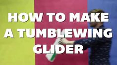 Make a #tumblewing #glider out of a few strips of #paper and some #tape. #cheapcrafts #kidscrafts #science #stem