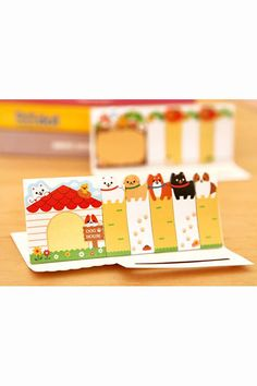 Cute paper sticky notes and memo of dogs. This sticky note set will be great for decorative use and craft projects. A must have for Scrapbooking,