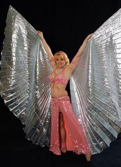 Belly dancers soar away on shining wings
