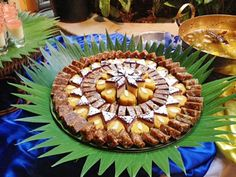 A mithai rangoli - with traditional indian sweets