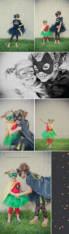 Smith Gallery Photography » Affordable Orlando Photographer; Batman and Robin; Halloween Costumes; Sisters