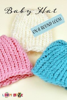 How to Knit a Baby Hat on a Round Loom- Using the straw will make it easier for . How to Knit a Baby Hat on a Round Loom- Using the straw will make it easier for the residents in as Baby Knitting Patterns, Baby Hats Knitting, Loom Patterns, Knitted Hats, Crochet Hats, Knitting Ideas, Loom Crochet, Crochet Hat For Beginners, Beginner Knitting Projects