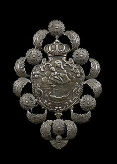 Italian Antique Repousse Silver Ex-voto with Image of Palermo