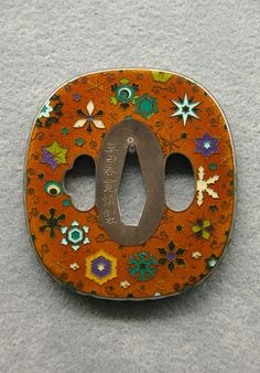 Tsuba - Japanese sword guard -, Edo era, 1828