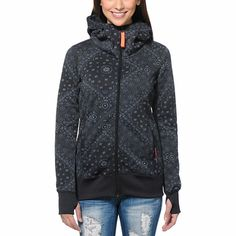 Make sure you are ready for the winter with the style and comfort of the Billabong Walk Me Down tech fleece jacket for girls. Coming in a Black colorway with a Grey floral design printed throughout, this snow fleece jacket from Billabong is perfect for layering or wearing on its own.