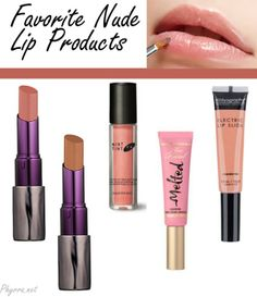 Makeup Wars Favorite Nude Lip Products - Urban Decay Revolution Lipstick in Native,  Urban Decay Revolution Lipstick in Naked2,  Too Faced Melted Lipstick in Melted Peony,  Cover FX MintTint in Pink Copper,  Bodyography Electric Lip Slide in Skintimacy