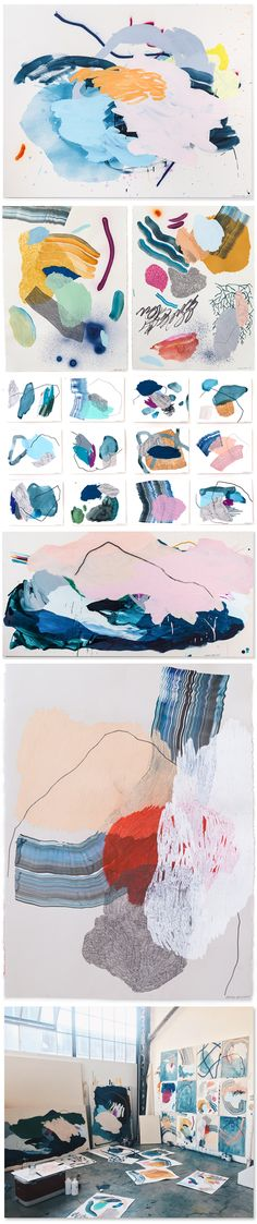 abstract paintings by heather day
