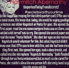 Hunger Games - Effie - Secrets worth your time - plot twist - haymitch