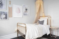 "Ronnie and Georgia scored the first of the competition, for their beautifully styled, ""whimsical"" children's bedroom. The Block, Big Girl Rooms, Kids Rooms, Girls Bedroom, Bedroom Ideas, Interior Inspiration, Decor Styles, Toddler Bed, New Homes"