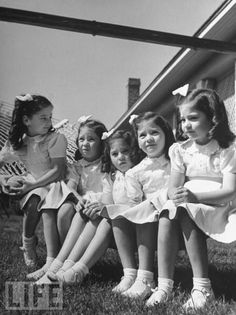 Dionne Quintuplets...such beautiful little girls. Too bad they were used as an attraction by both the Canadian government and their family.