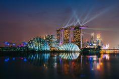 """The Lion City - The Singapore skyline as seen from Gardens East. This shot is a blend of various elements taken over a 3 hour period.  <a href=""""http://www.peterstewartphotography.com"""">www.peterstewartphotography.com </a> <b> Follow my latest updates on: </b> <a href=""""http://facebook.com/PeterStewartPhotography""""> Facebook     </a> <a href=""""https://plus.google.com/u/0/100715883830507217090""""> Google+     </a><a href=""""http://instagram.com/petestew""""> Instagram     </a>  <a…"""