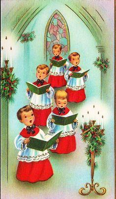 Old Christmas Post Cards — Christmas Carols Vintage Christmas Images, Old Christmas, Victorian Christmas, Christmas Music, Retro Christmas, Vintage Holiday, Christmas Pictures, Vintage Images, Christmas Crafts