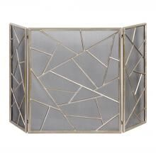 Keep embers safely contained while giving your fireplace a modern look with the Armino fireplace screen. The decorative, iron fireplace screen features a lightly antiqued silver leaf finish. The center panel is wide and each side panel is wide. Farmhouse Fireplace Screens, Modern Fireplace Screen, Decorative Fireplace Screens, Concrete Fireplace, Modern Fireplaces, Faux Fireplace, Fireplace Ideas, Indoor Fireplaces, Country Fireplace