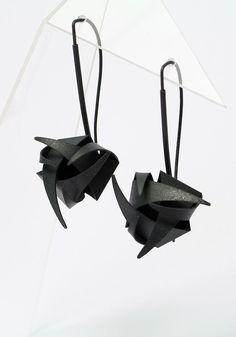 Earrings (patinated silver) - by mimikra.com Kinga Sulej