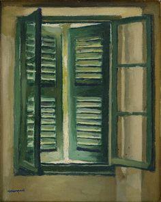 De biais, en retrait, l'ami de Matisse peignait à l'abri dans son appartement, pour mieux saisir la puissance des paysages. Démonstration, à l'occasion d'une belle exposition au Musée d'Art Moderne.
