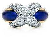 Fean Schlumberger (for Tiffany) Pave X ring