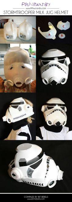 DIY: Milk Jug Storm Trooper Helmet #upcycle