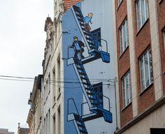 Street-Art, Bruxelles. #streetart #bruxelles Street Art, Fair Grounds, Europe, Fun, Travel, Brussels, Belgium, Viajes, Destinations
