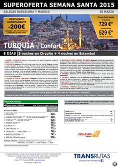 TURQUIA - Confort /8 días ¡¡Superoferta Semana Santa: 30 marzo - Dto. acompañante -200€!! ultimo minuto - http://zocotours.com/turquia-confort-8-dias-superoferta-semana-santa-30-marzo-dto-acompanante-200e-ultimo-minuto/