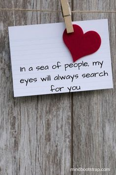 Best Romantic Quotes That Express Your Love (With Images) is part of Most romantic quotes - Here are best romantic love quotes and sayings for Valentine's Day that can be used both in cards and love letters Cute Love Quotes, Famous Love Quotes, Soulmate Love Quotes, Love Quotes For Her, Love Yourself Quotes, Quotes For Him, Beautiful Quotes On Love, Love For Her, Love Quotes With Images