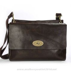 dc1463785ee9 Mulberry Mens East West Messenger Natural Leather Bag Dark Coffee Sale  Online