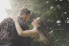 dancing in the rain.. engagement shoot