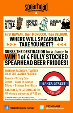 Spearhead new #craftbeer launch on May 3rd!