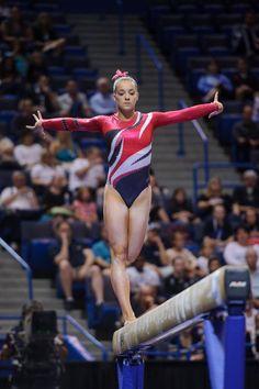 Maggie Nichols - focused at the 2013 P&G Gymnastics Championship on BB Gymnastics Facts, Gymnastics Images, Gymnastics Coaching, Olympic Gymnastics, Gymnastics Girls, Gymnastics Leotards, Gymnastics Posters, Maggie Nichols, Mental Coach