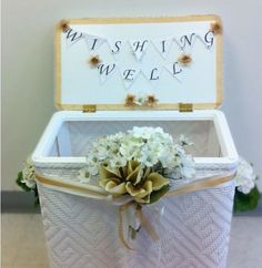 Hello loves! For anyone who is planning or helping to plan a bridal shower this idea is for you! My mom and sister made me a beautiful wishing well for my bridal shower but unfortunately things wer…