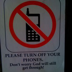 Funny sign @ church