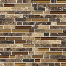 Check out this Daltile product: Butternut Emperador Random Mosaic Blend - Inspiring Ideas through Real Use.