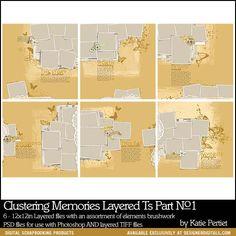 Clustering Memories Layered Templates Part No. 01 - Digital Scrapbooking DesignerDigitals.com Quarterly Sale