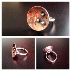 Copper, sterling and fine silver by Zona Sherman Designs.
