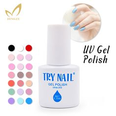 (DA001-031)TRY NAIL Free Shipping New Arrival Promotion UV Gel Polish Three Steps Blue Color Soak Off UV Nail Gel Polish Gel Lak