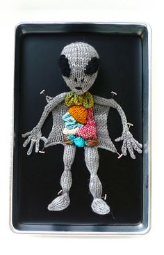 Alien Autopsy Knitting Pattern