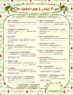 Christmas Song Game Christmas Music Game Christmas Carol | Etsy