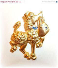 JJ Poodle Purse pin brooch by dollherup on Etsy, $13.50
